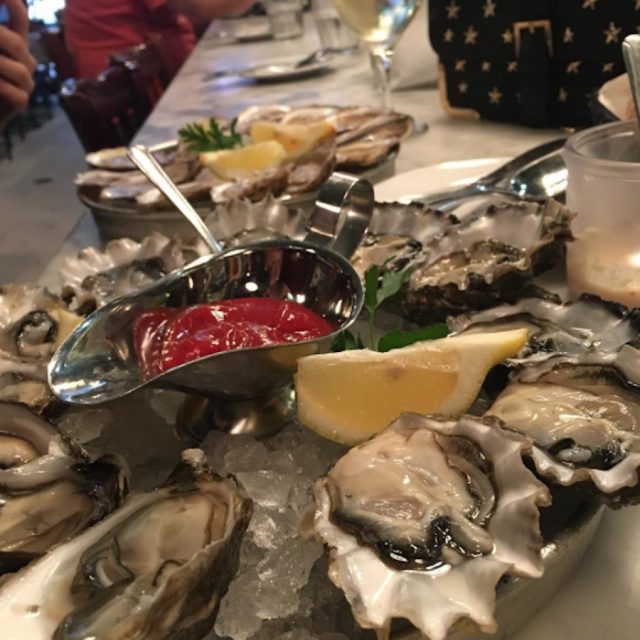 A Platter Of Sotto Mare's Freshly Shucked Oysters
